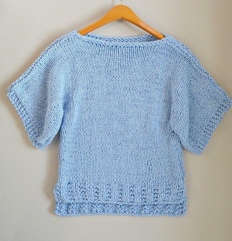 boxy-t-shirt-beginner-sweater-knitting-pattern | Knitting Projects ...