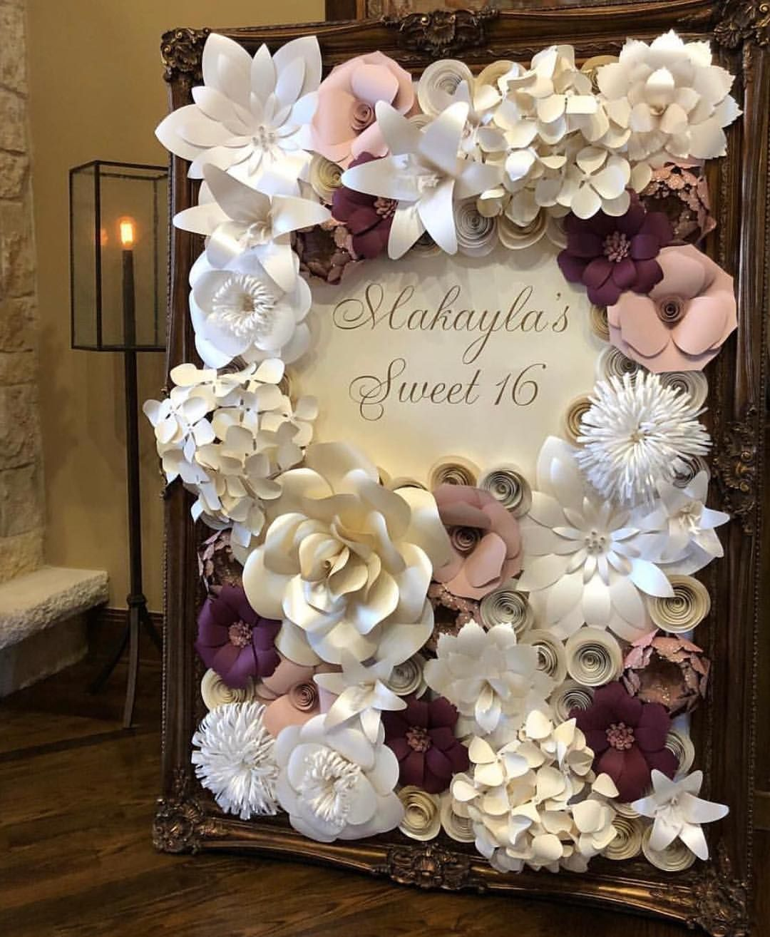 Lovely Paper Flowers Paper Flower Backdrop Wedding Paper Flowers Wedding Paper Flower Wall