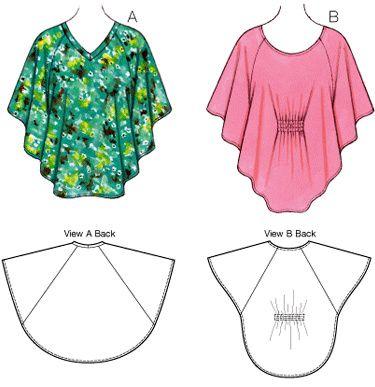 Выкройка блузки простого кроя для девочки