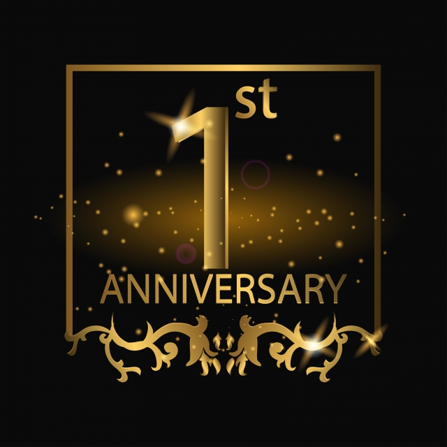 1st anniversary logo with gold color anniversary year celebrate png and vector with transparent background for free download anniversary logo business symbols 1st anniversary 1st anniversary logo with gold color