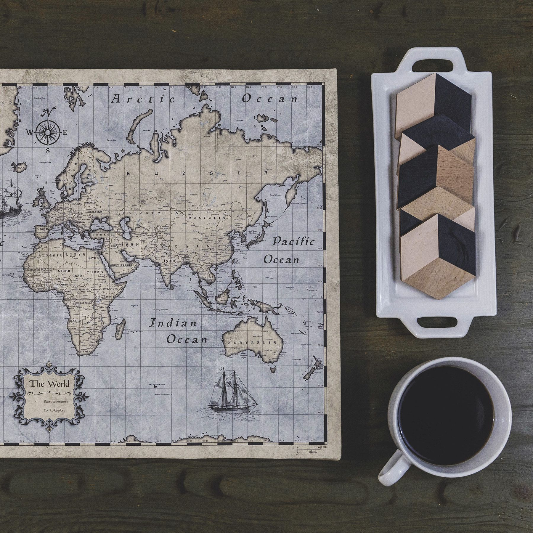 World travel map pin board wpush pins rustic vintage pin boards rustic vintage world pin board map gumiabroncs Choice Image