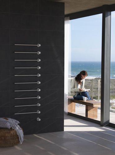 Sèche-serviettes électrique   vertical   en métal   mural T39EL VOLA - puissance seche serviette salle de bain