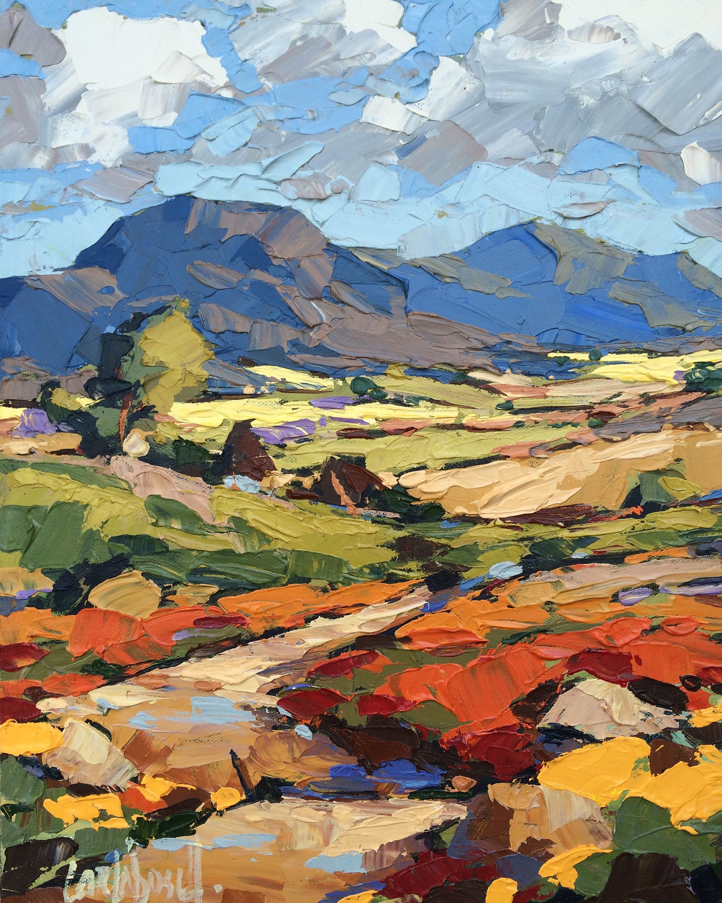 acrylic paintings of landscapes