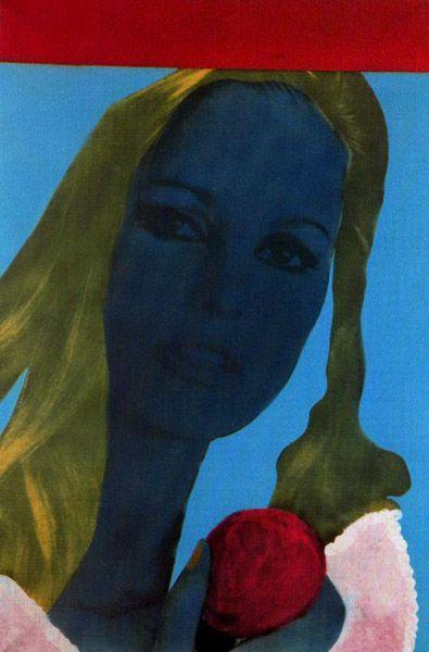 Ce visage bleu, Martial Raysse.