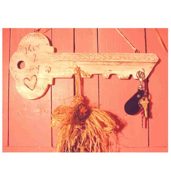 Key to my Heart shabby chic key holder  wood by rusticrevivals, $32.00