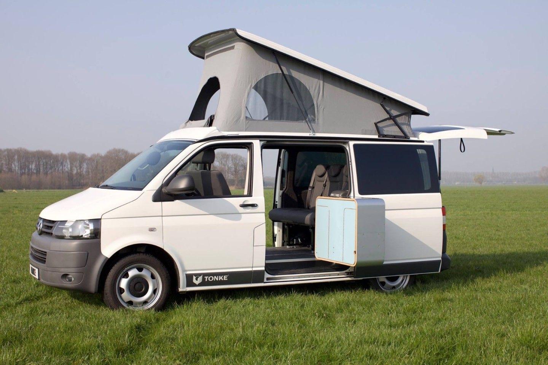 Tonke Turns The New Vw T6 Into Versatile Camper Van In 2020 Vw Transporter Camper Van Volkswagen Camper