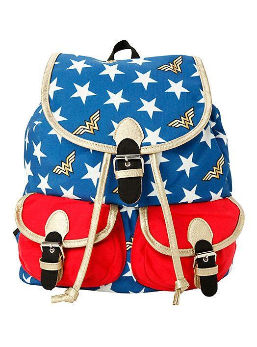 DC Comics Wonder Woman Medium Slouch Backpack,   Wish List ... 62c92b4be4
