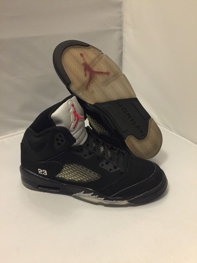 quality design 79a4f 85ec0 2011 Nike Air Jordan 5 Retro Black Metallic Silver Mid Top 440888-010 Size  5Y  fashion  clothing  shoes  accessories  kidsclothingshoesaccs  boysshoes  (ebay ...