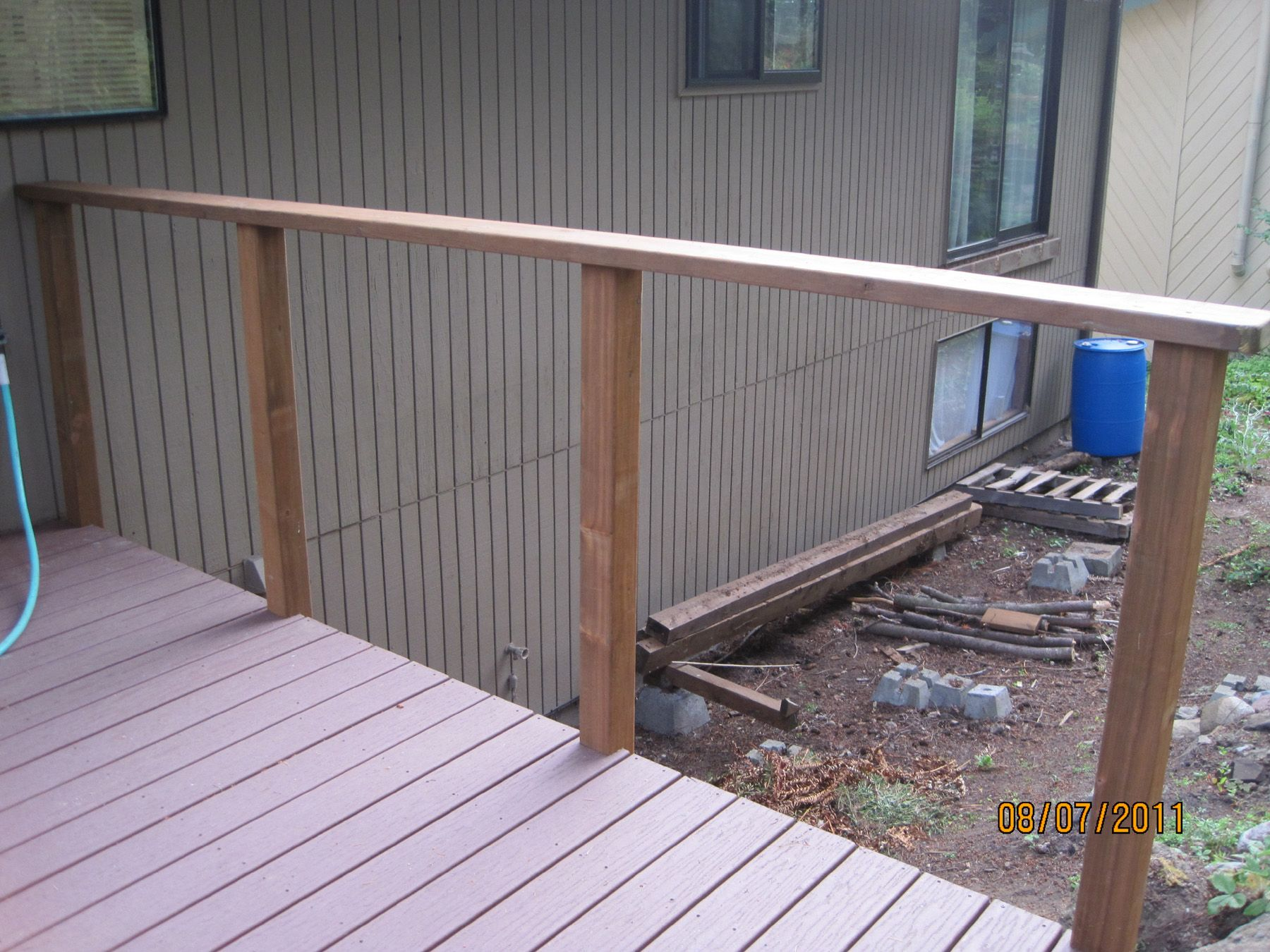 Deck railing posts 4x4 see 100s of deck railing ideas http deck railing posts 4x4 see 100s of deck railing ideas httpawoodrailing20141116100s of deck railing ideas designs deck railing ideas baanklon Images