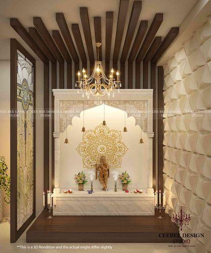 Home Design Ideas Bangalore: Puja Room By CEE BEE Design Studio, Interior Designer In