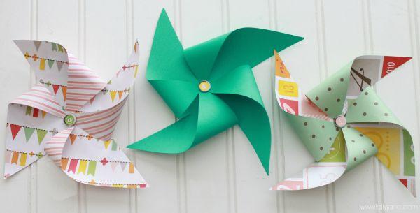 summer decor paper pinwheel
