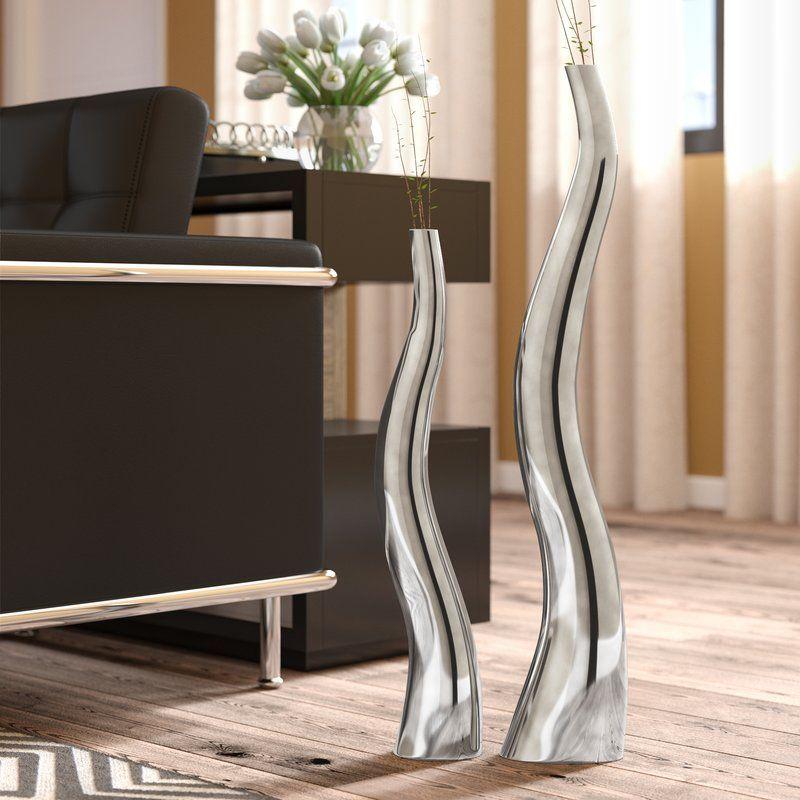 143 99 Set Of 2 Dining Room Corner Wiggly Tall Floor Vase Tall 32 H X 6 W X 3 5 D Short 24 H Tall Floor Vases Dining Room Corner Home Decor