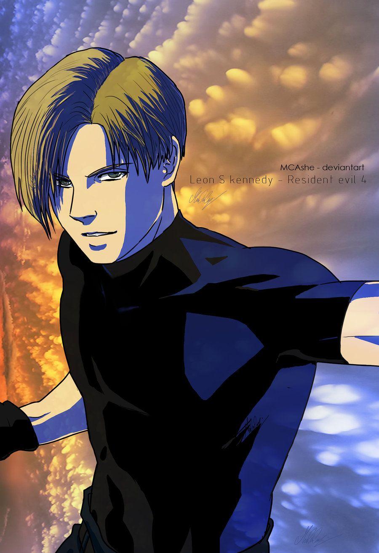 Leon Scott Kennedy Fanart Resident Evil 4 By Mcashe Resident