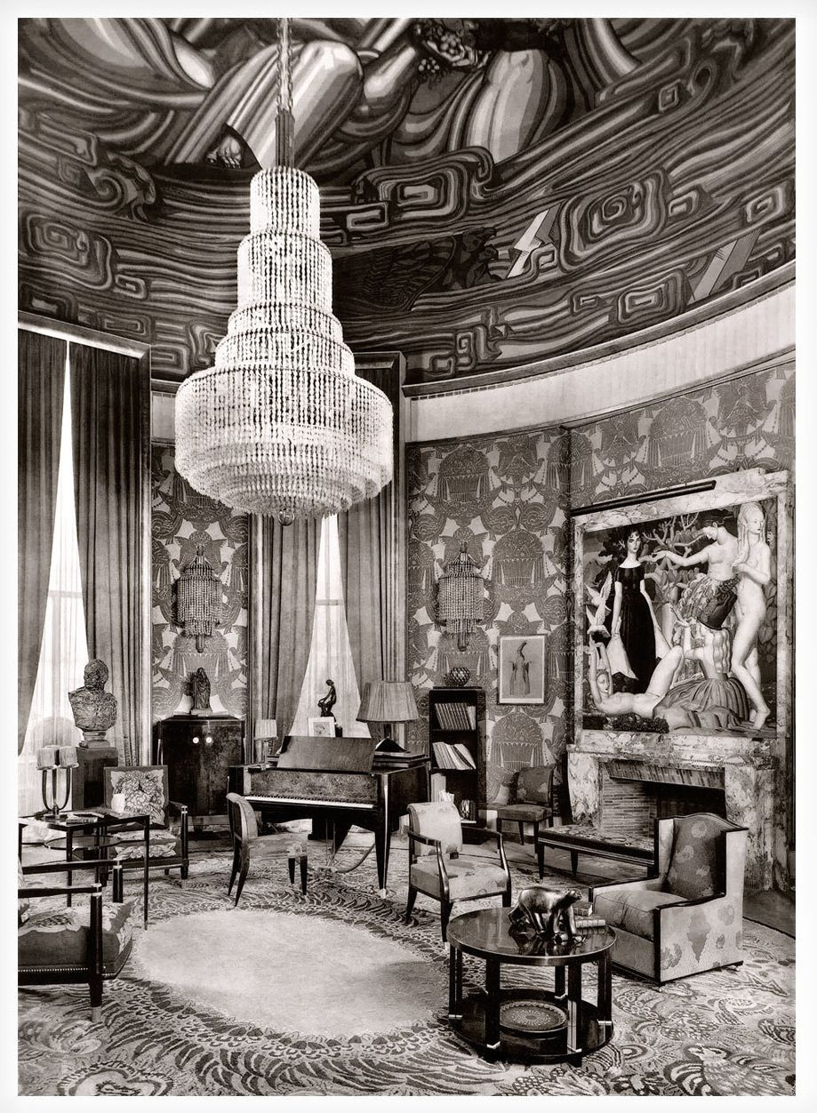 mile jacques ruhlmann 1925 the grand salon of the h tel. Black Bedroom Furniture Sets. Home Design Ideas