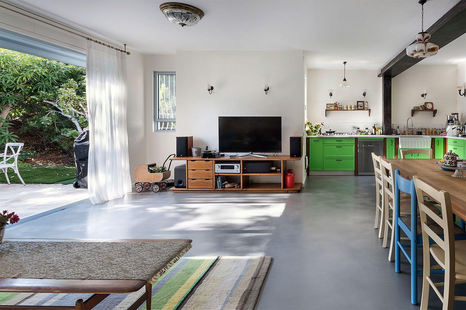 רצפת בטון מוחלק בטון דקורטיבי בעיצובים מדהימים (With