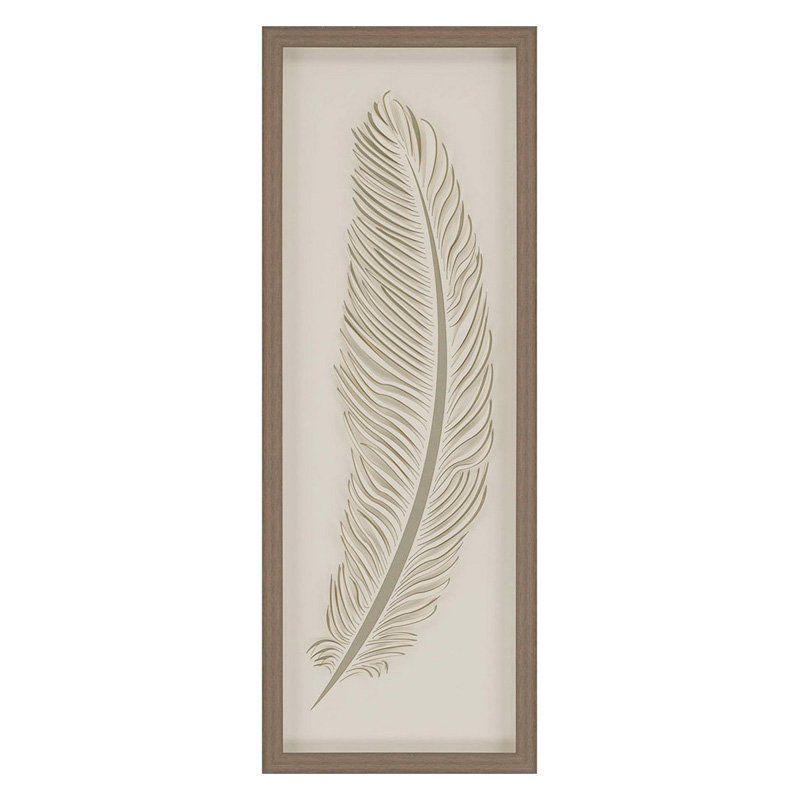 Paragon Decor Feather 2 Framed Wall Art - 9501