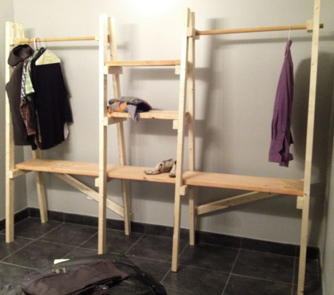 Charmant Loft Build Out   JonHammettChesley Freestanding Closet