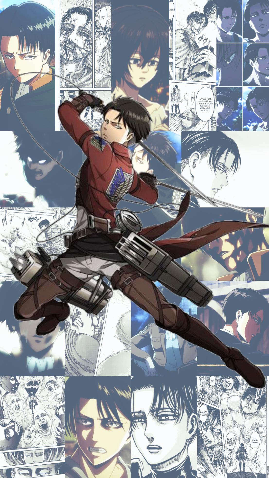 Levi Ackerman Cellphone Wallpaper Shingeki No Kyojin Personagens