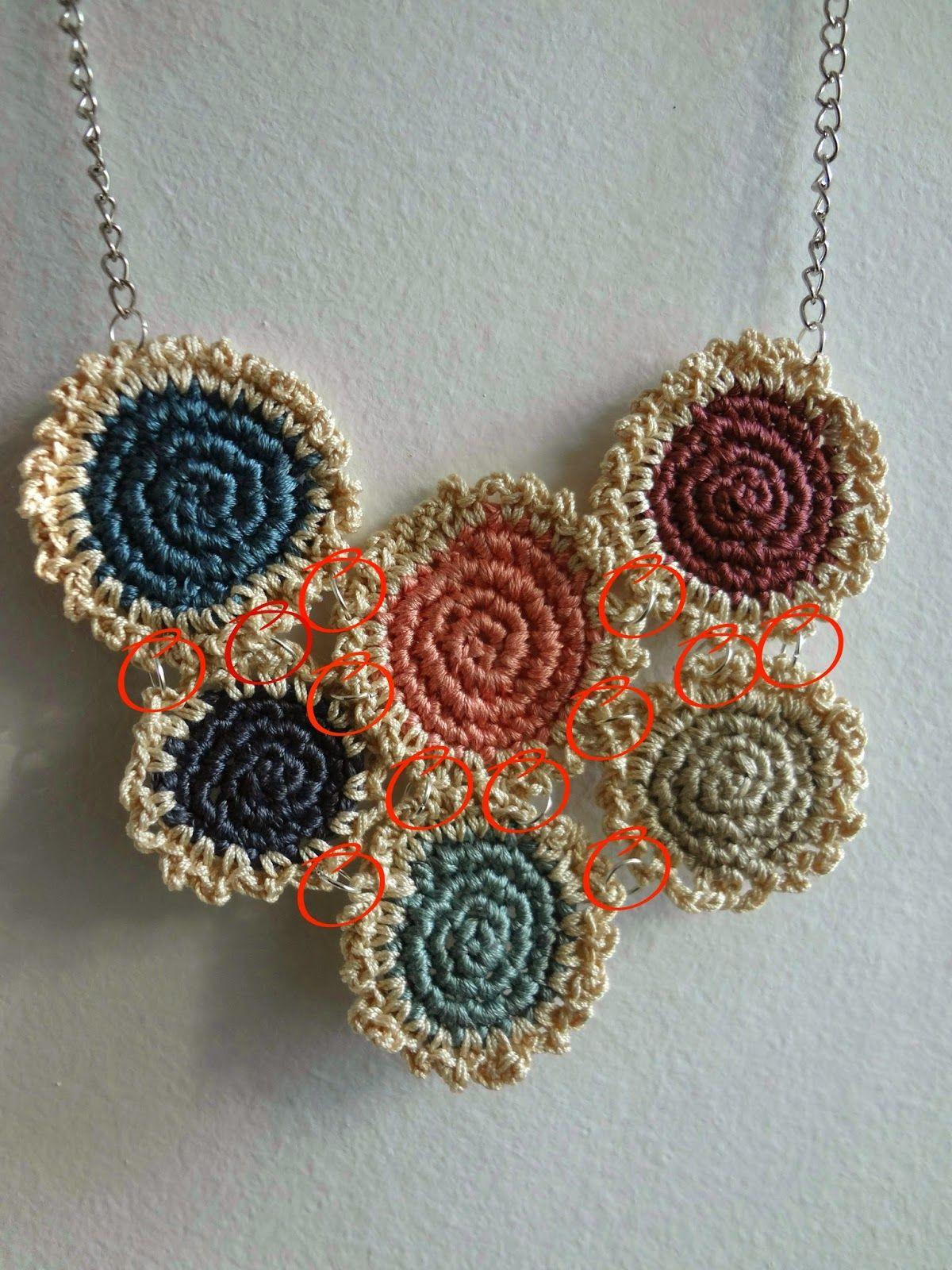 Little Treasures: Crochet Mini tapetes {collar y pulsera} - un ...