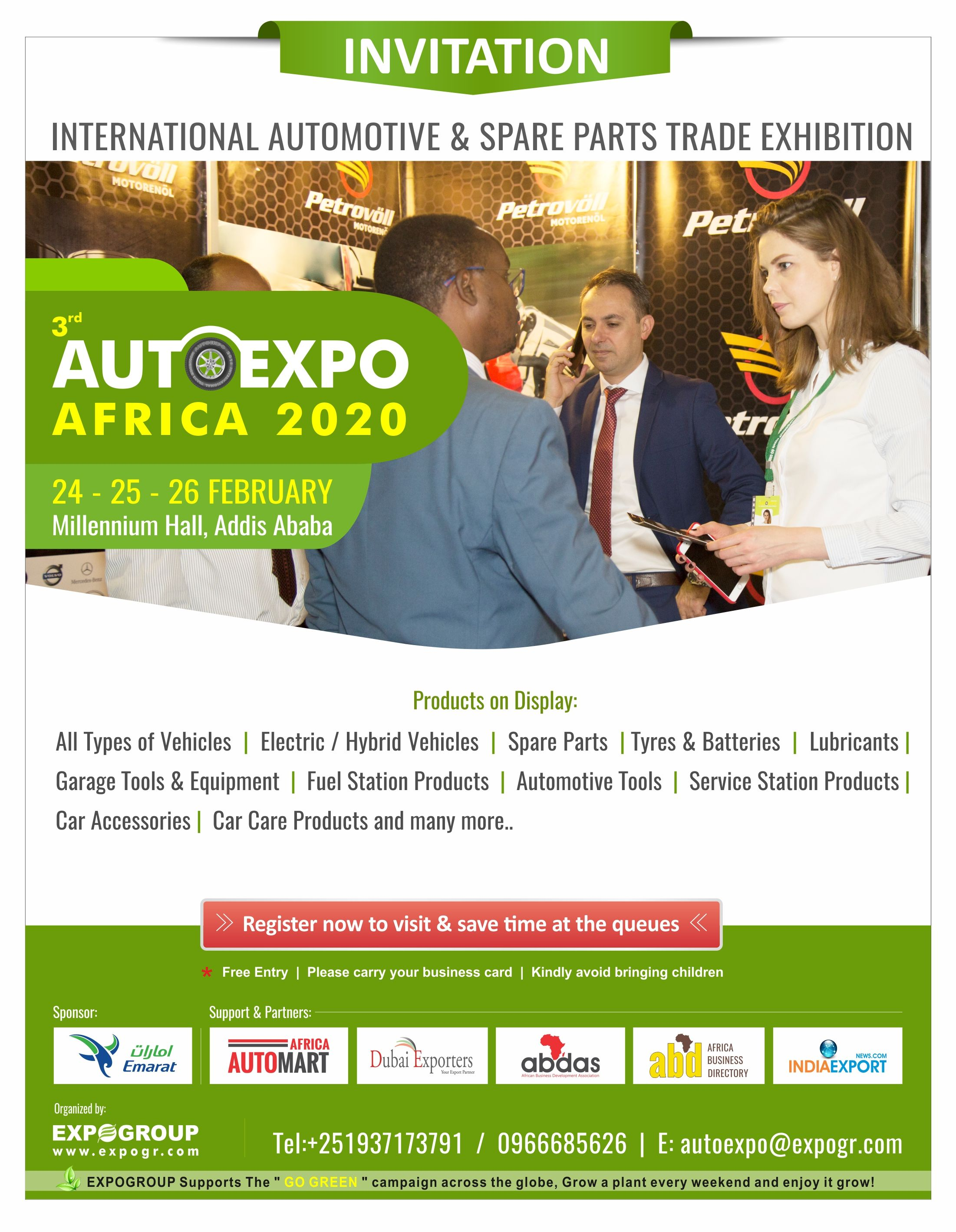 AUTOEXPO ETHIOPIA 2020 INVITATION Autoexpo Ethiopia 2020 is the right place to source the latest innovations  technologies in all types of Personal and Commercial Tools...