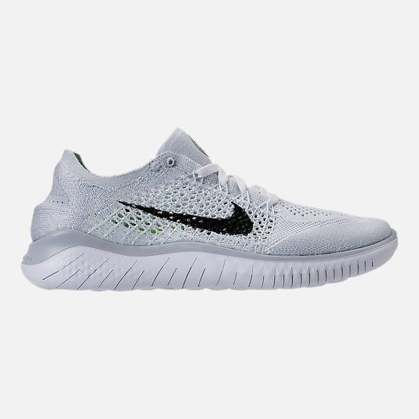 e1d2fc482032 Shop WOMENS NIKE FREE RN FLYKNIT 2018 RUNNING SHOES 942839 100 White Black  Pure Platinum