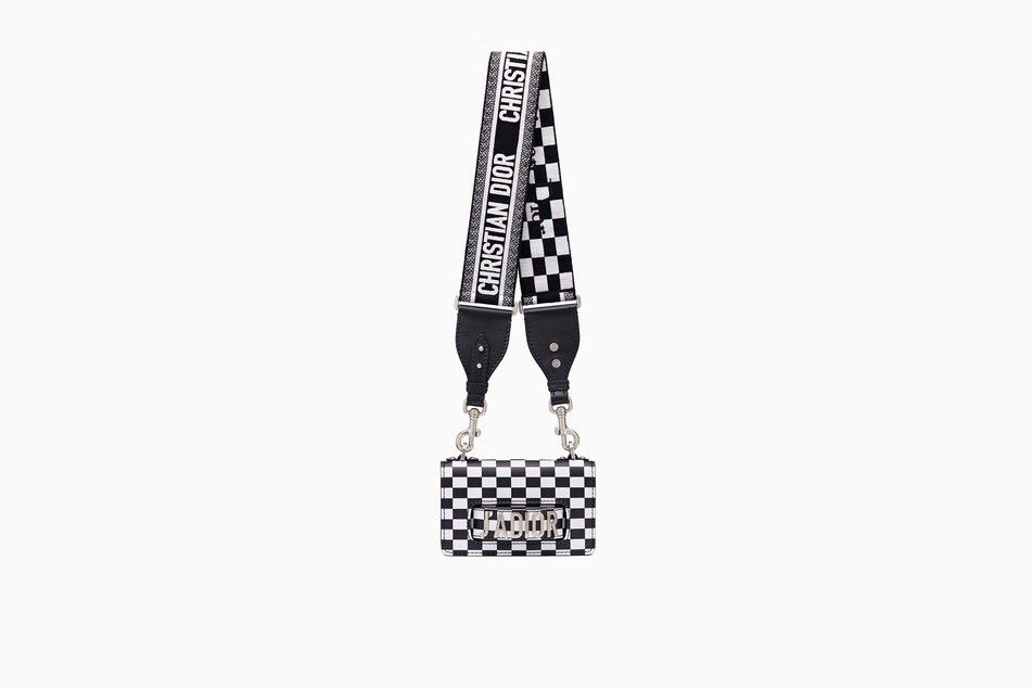 19c938c77386 Mini J adior flap bag in black and white printed calfskin with