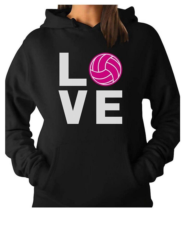 Teestars Love Volleyball Best Gift Idea For Volleyball Lovers Women Hoodie Black Cz12dkzfzt9 Hoodies Womens Black Hoodie Sweatshirts Hoodie