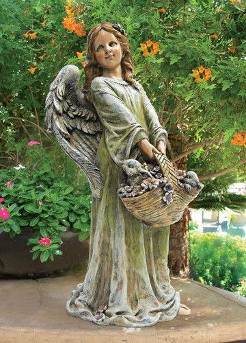 Flower Angel Joy Garden Statue Flower Angel Joy Garden Statue
