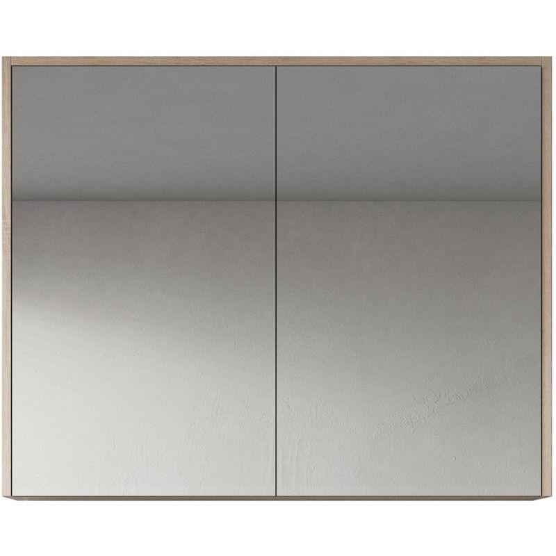 Meuble A Miroir Cuba 90x72 Cm Chene Clair Miroir Armoire Miroir