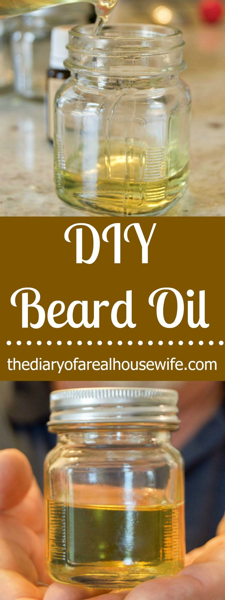 Easy DIY Beard Oil. Makes the perfect gift! Diy beard