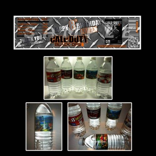 Call of duty black ops set of 15 water bottle labels party favors call of duty black ops set of 15 water bottle labels party favors filmwisefo Image collections