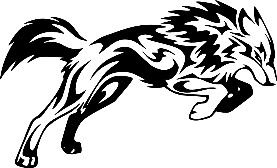 Dessin tribal funny dessins tribaux loup tribal tatouage loup - Loup dessin facile ...