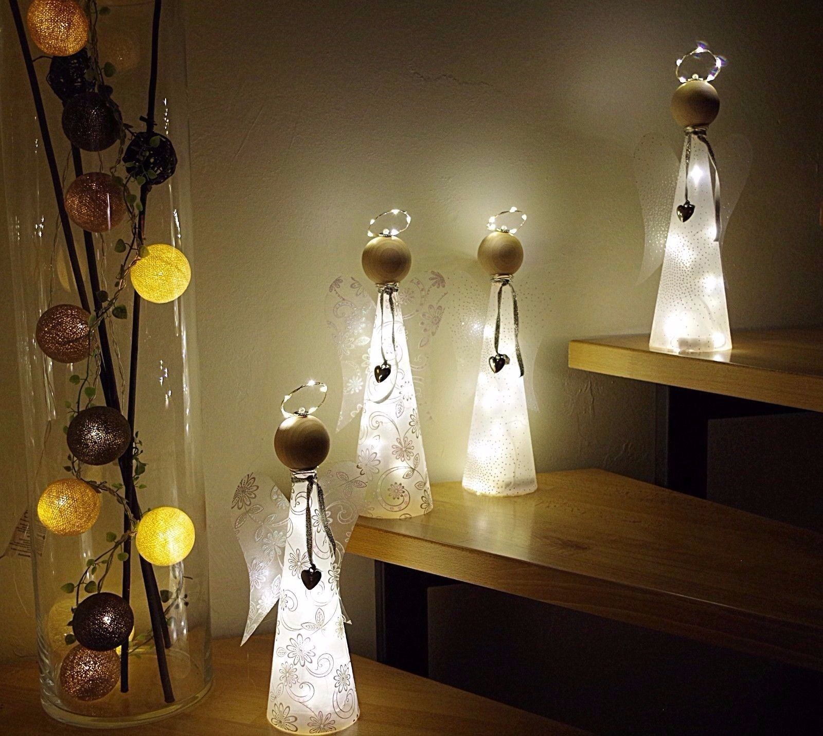 bastelanleitung material f beleuchteten engel lichterkette basteln bastelset ebay engel. Black Bedroom Furniture Sets. Home Design Ideas