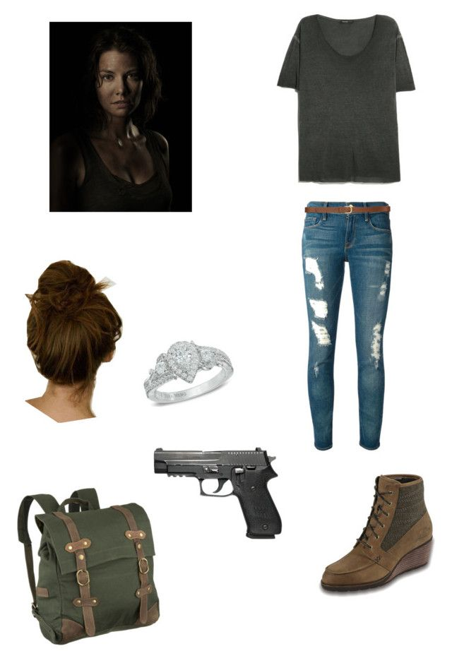 """""""Maggie Greene"""" by jaynayeet ❤ liked on Polyvore featuring United by Blue, Vera Wang, MANGO, Frame Denim, H&M, The North Face, AMC, thewalkingdead, laurencohan and maggiegreene"""
