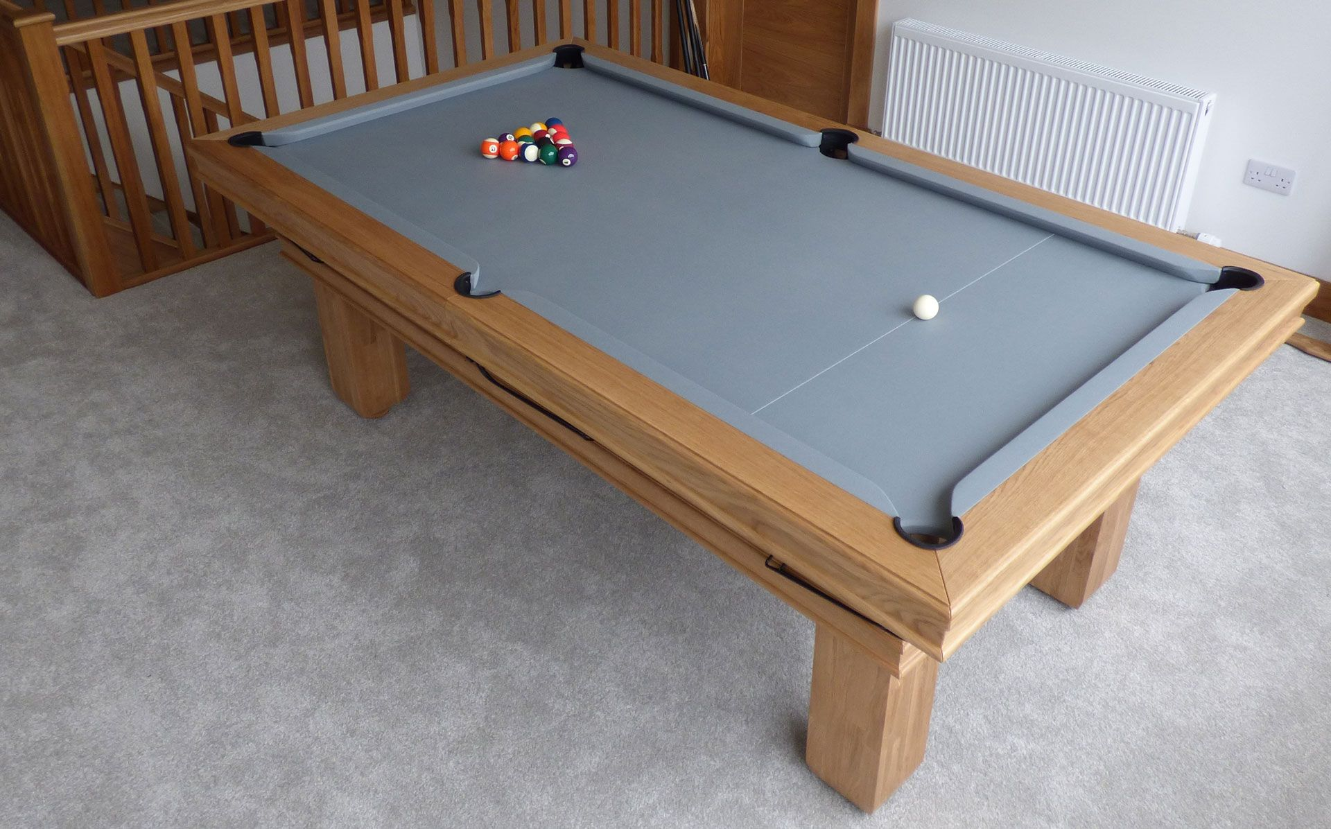 A 7 English Traditional Pool Table Made From Oak In