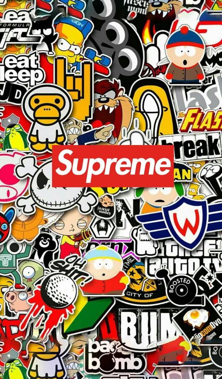 Sticker supreme wallpaper by agsalcantara7941251 - 8d47 - Free on ZEDGE™