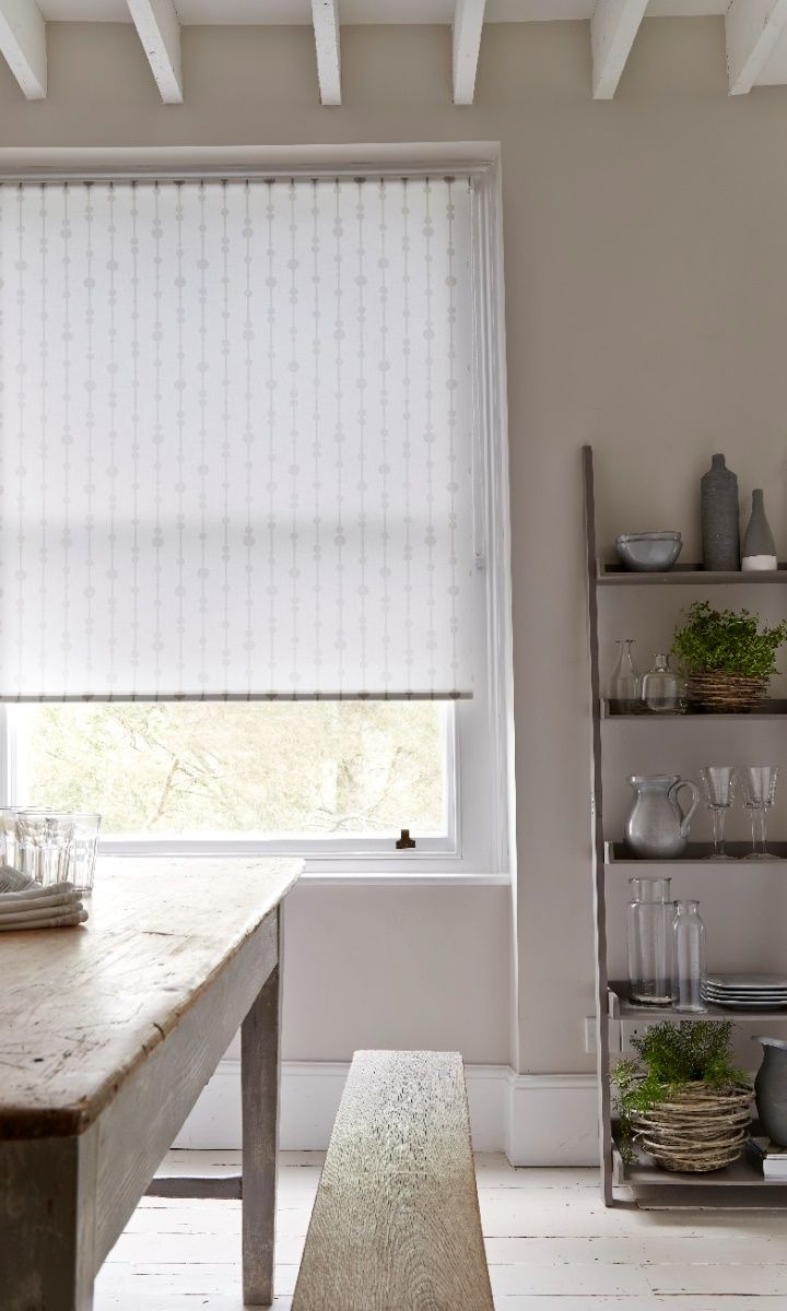 Gorgeous Rustic Dining Room With A Lovely Roller Blind Love The Open Shelves Everything On Display