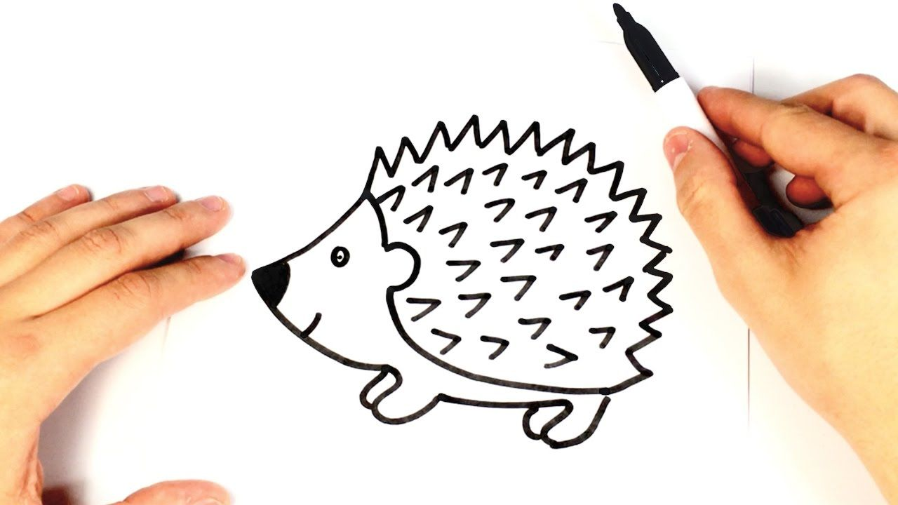 How to draw a Hedgehog for kids | Hedgehog Drawing Lesson | How to ...