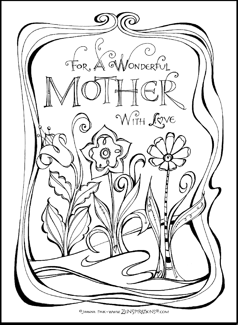 if you like to color check out the free downloadable mother u0027s day