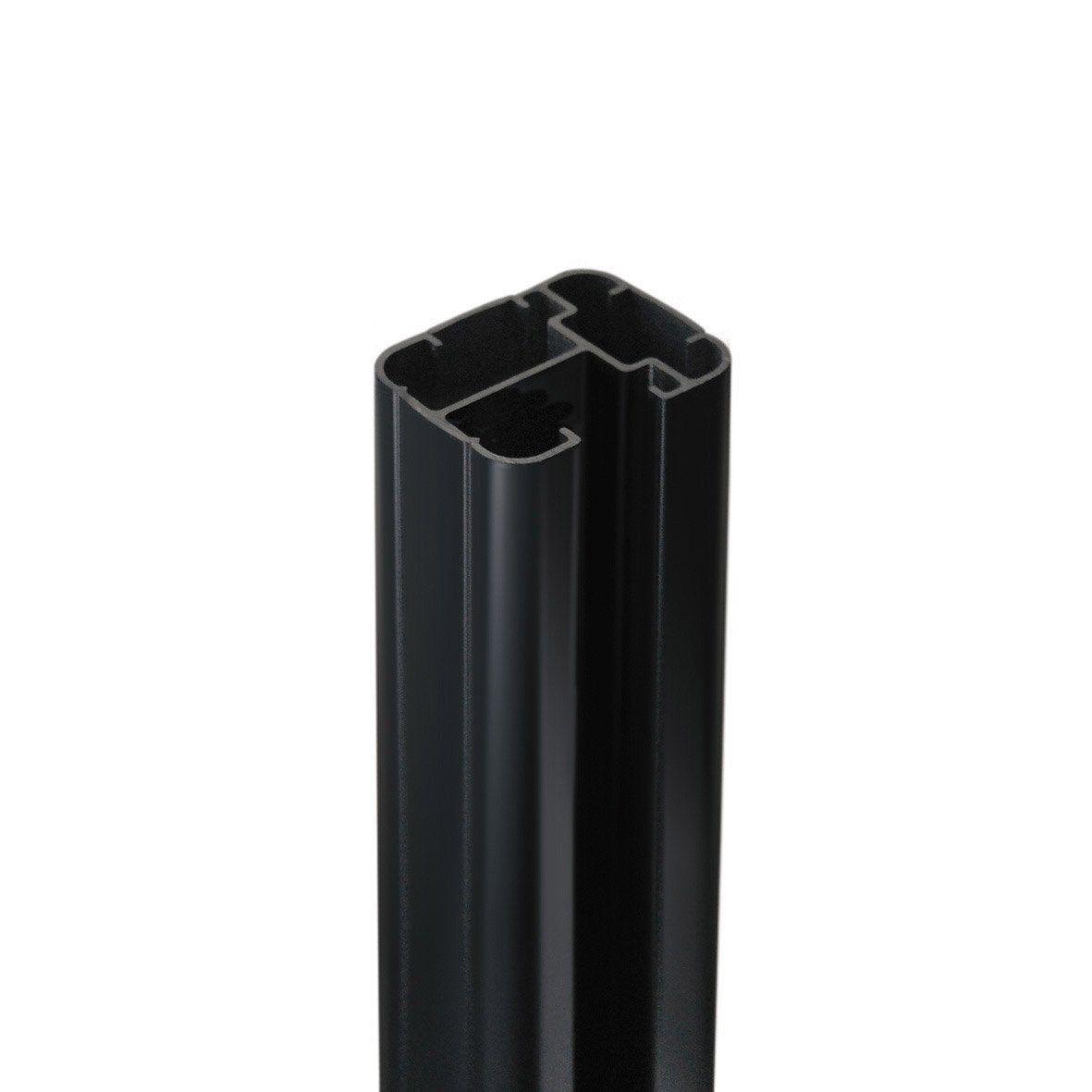 Poteau Aluminium A Sceller Premium Gris Anthracite H 231 5 X L 50 X P 65 Cm Poteau Gris Merlin