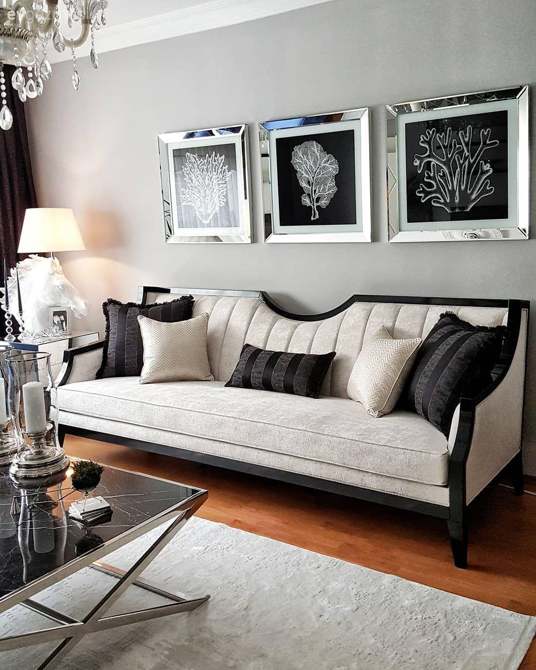 Mermer, Salon, Halı, Beyaz halı, Gri duvar, Siyah-beyaz, Ayna çerçeve, Duvar dekorasyon, İki farklı kanepeyle koltuk takımı