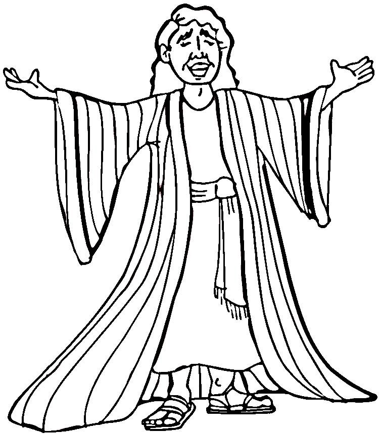 Joseph And His Coat Colouring Pages