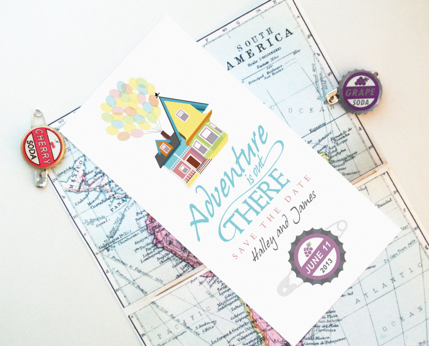 Design Fee - UP Save the Date Inspired By Disney Pixar Movie w/Grape ...