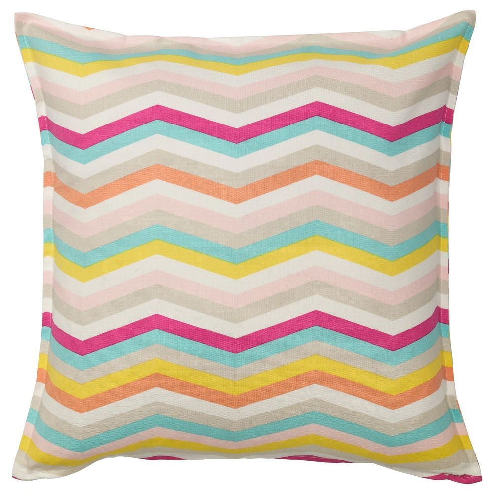"""IKEA Cushion Cover Sommar 2018 Square Pillow Cover 20x20/"""" ZigZag Multicolor NEW"""