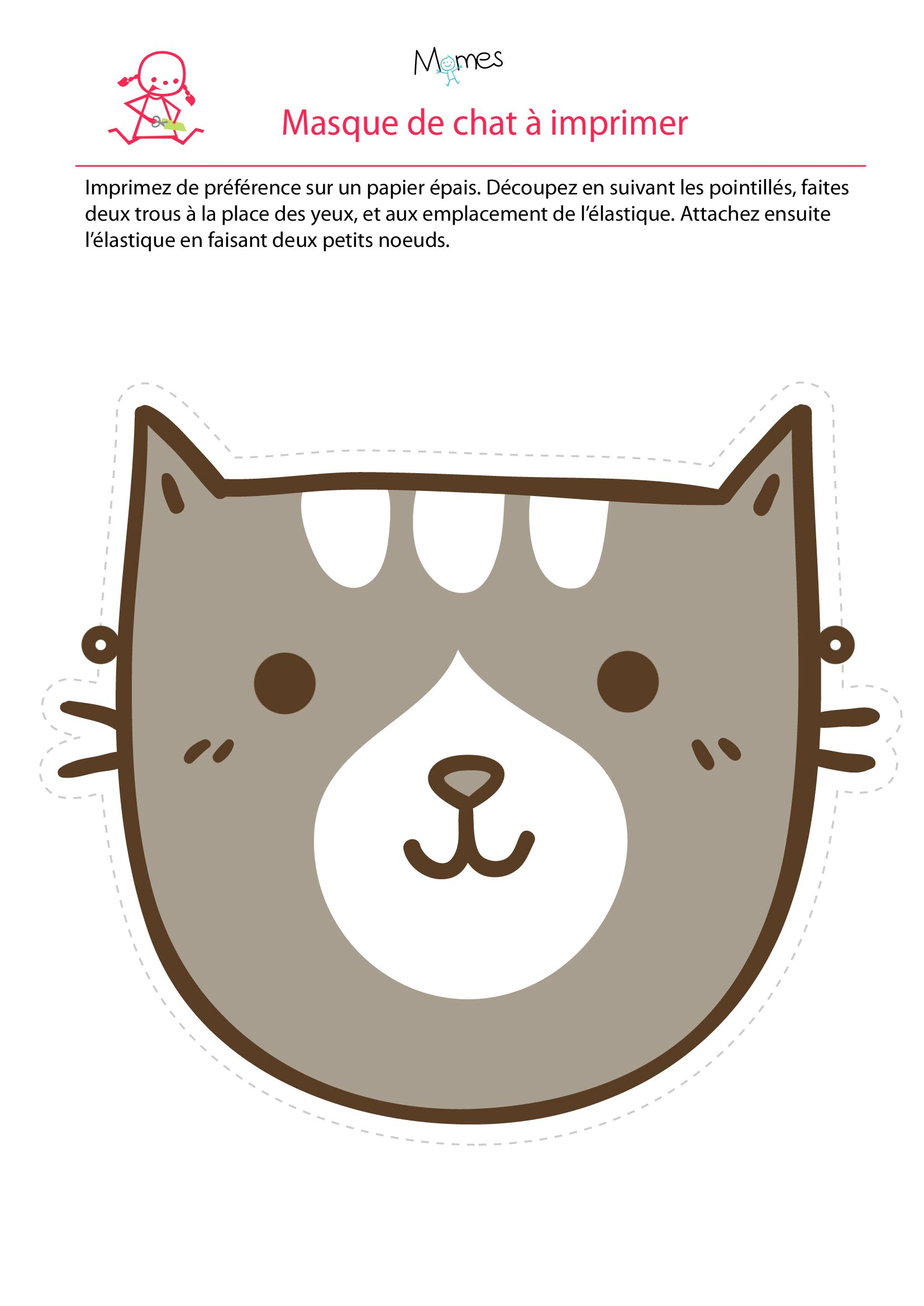 1000 ideas about masque de chat on pinterest chat a - Chat a colorier ...