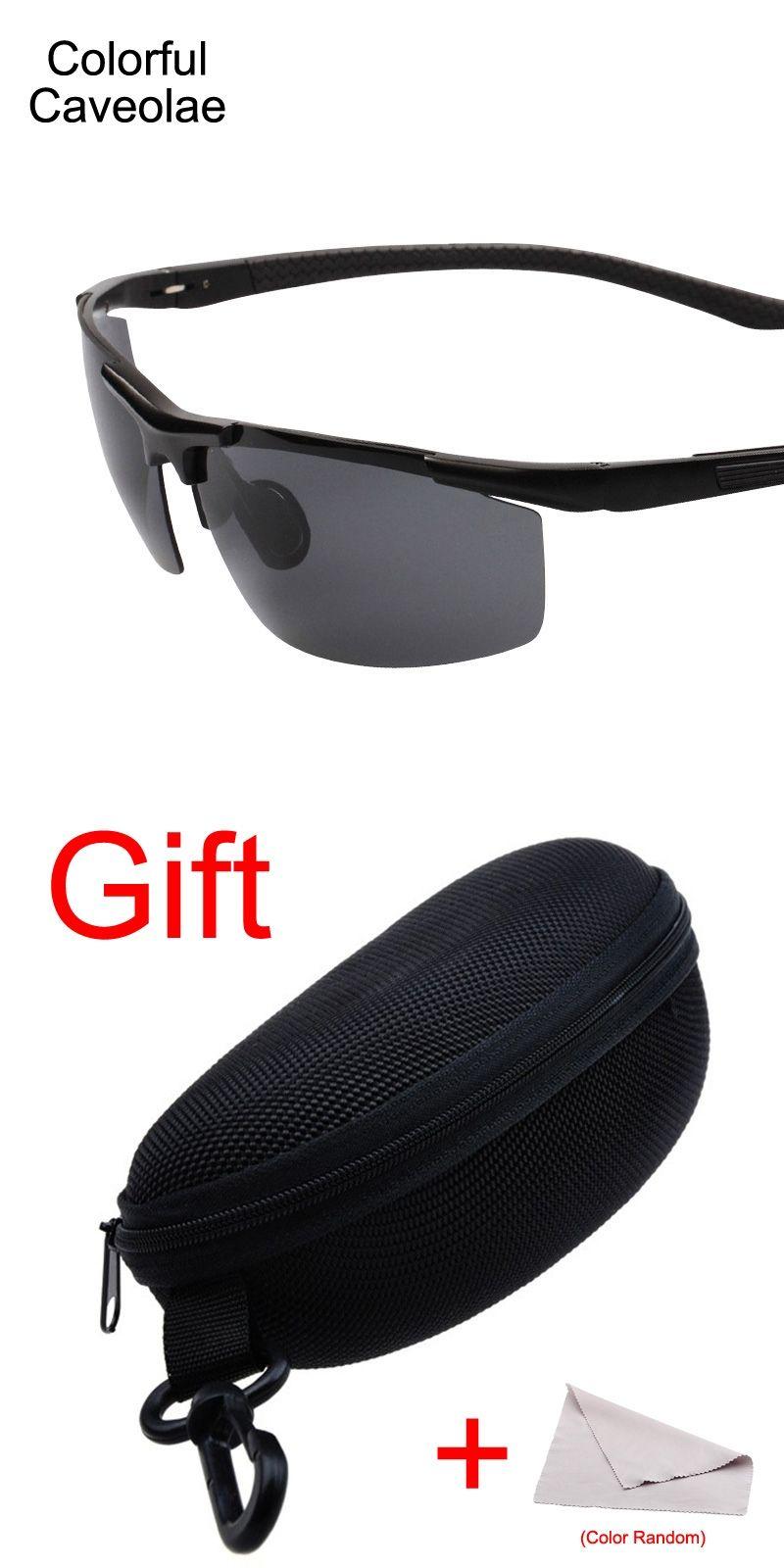 47809abc5990 Colorful Caveolae Sunglasses Polarized Men Popular Fashion Man Dark Glasses  Driving Gold Frame Male Brand Sun