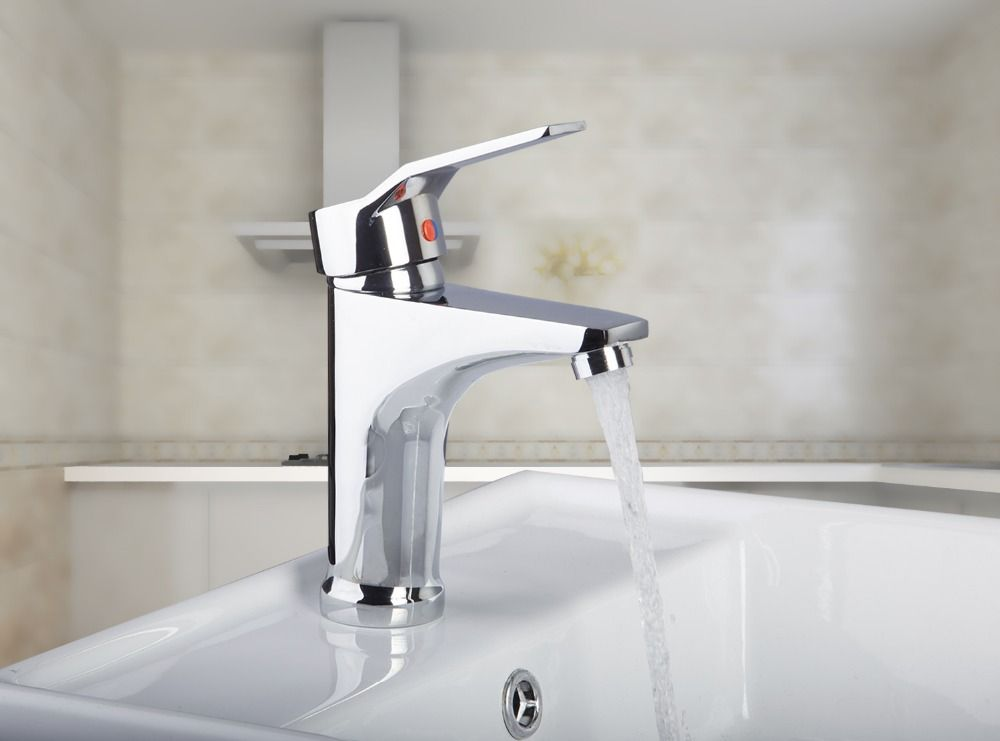 8359 Modern Style Good Quality Single Holder Chrome Finish Bathroom Basin Sink Mixer Tap Faucet Basin Sink Bathroom Finished Bathrooms Sink Mixer Taps