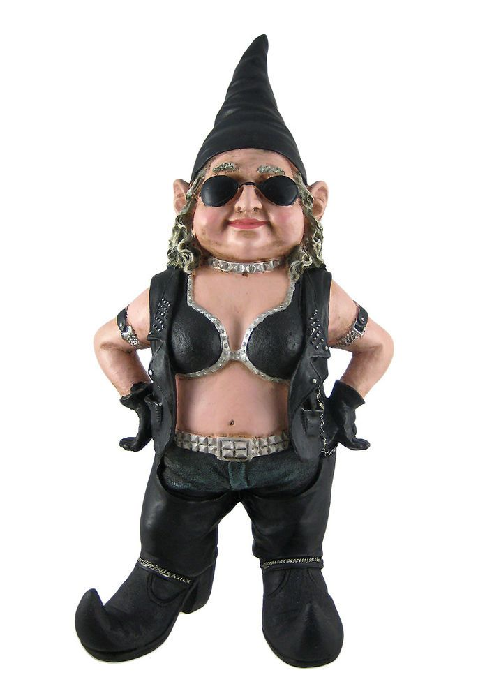Charmant Gnofun Biker Babe Garden Gnome Statue Motorcycle Lady