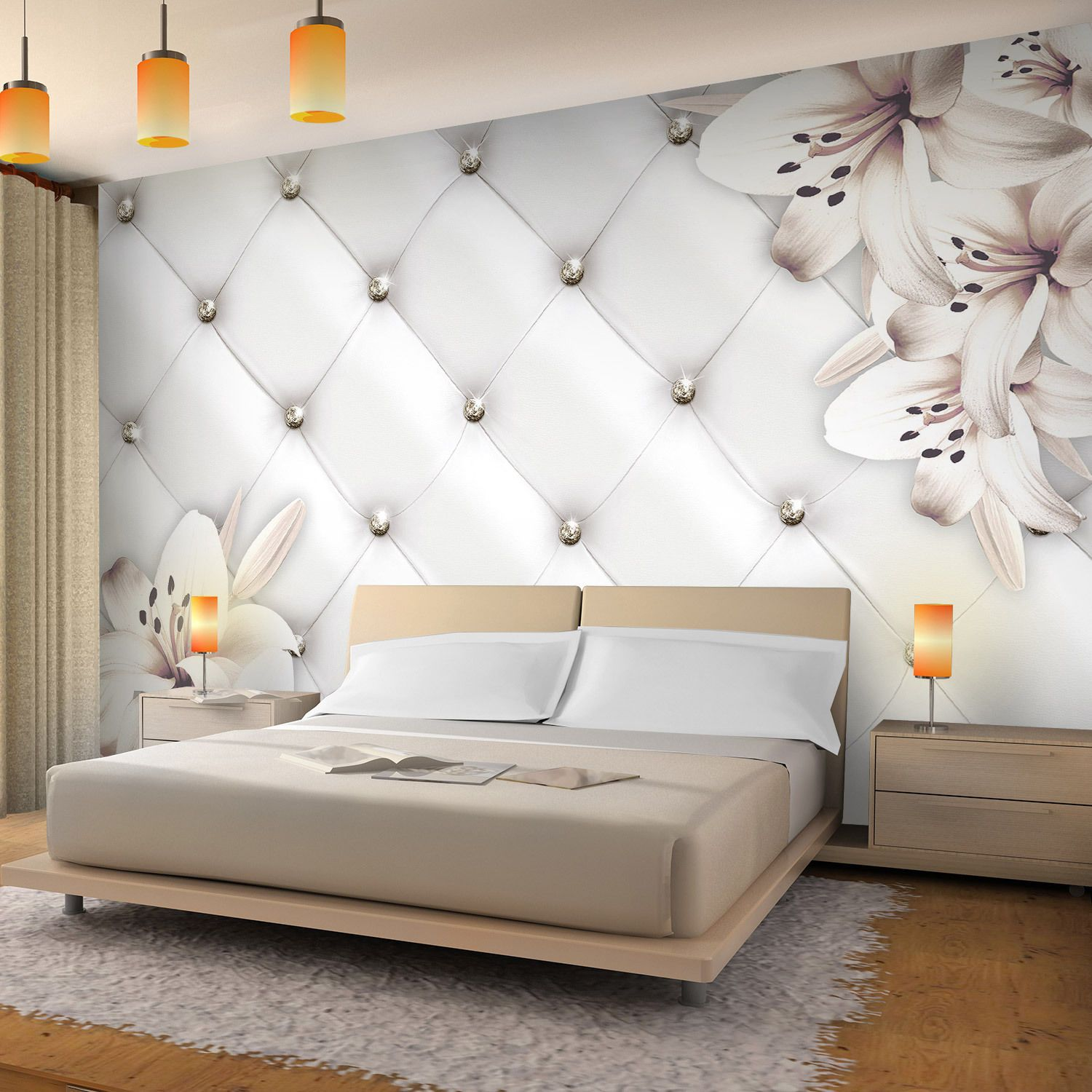 Vlies Fototapeten 3d Effekt Leder Blumen Tapete Schlafzimmer Wandbilder Xxl Eur 29 99 In 2020 Bedroom Furniture Design Master Bedrooms Decor Bedroom Decor