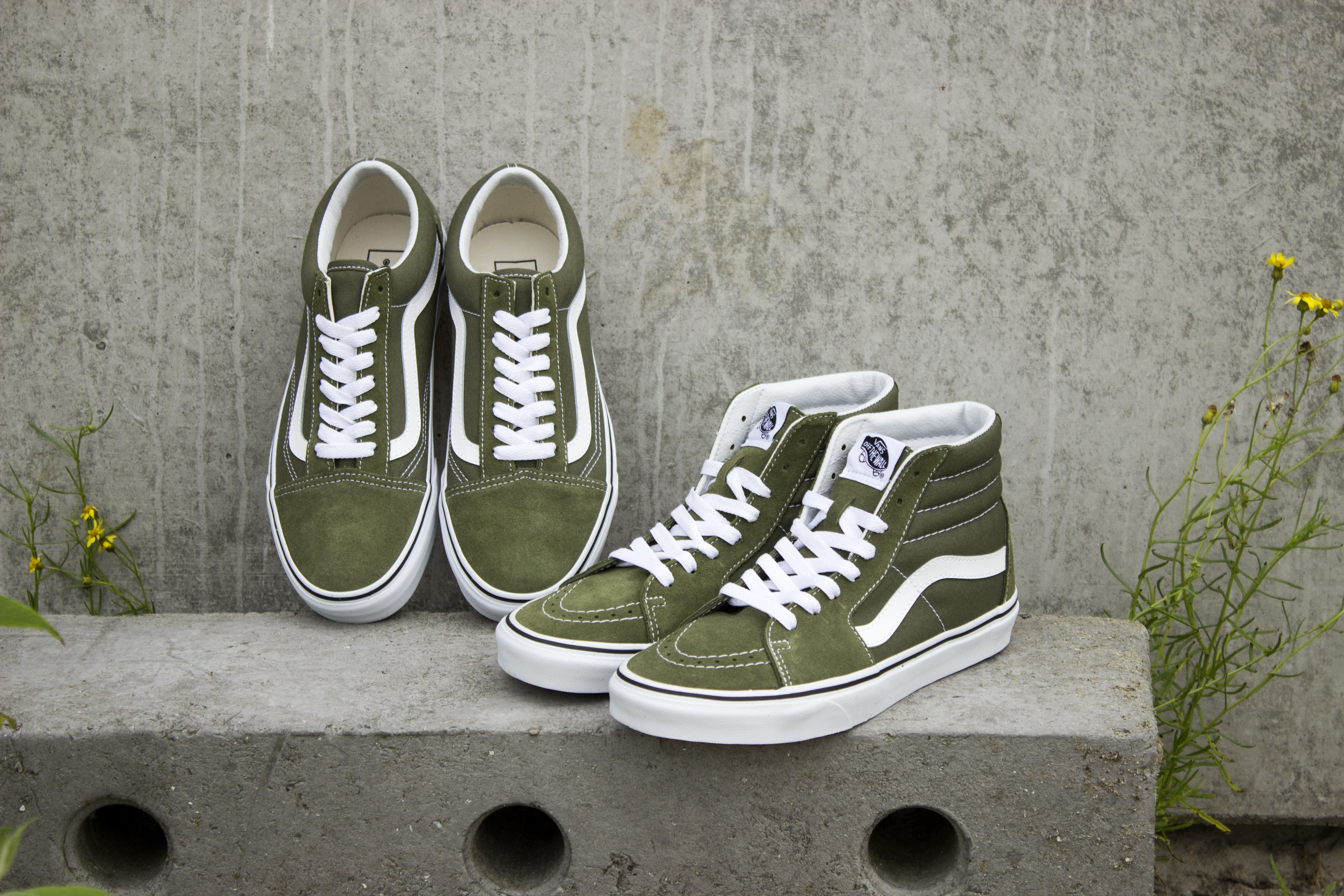 Vans Sk8-Hi | Vans Old skool | Winter Moss | Vans sneakers